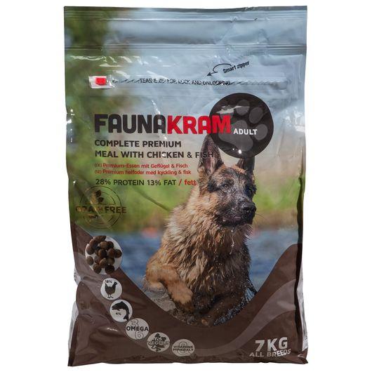 Hundefoder kylling/laks 7 kg