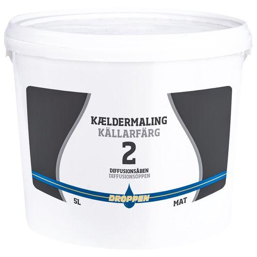 Droppen - Kældermaling hvid 5 L