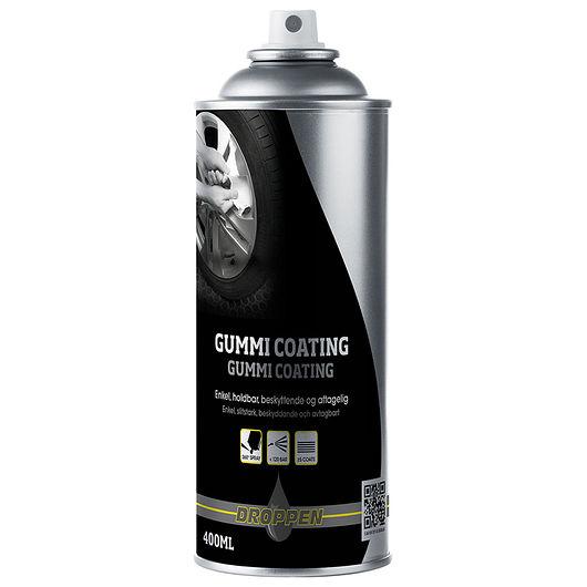 Droppen - Gummi coating sort mat 400 ml