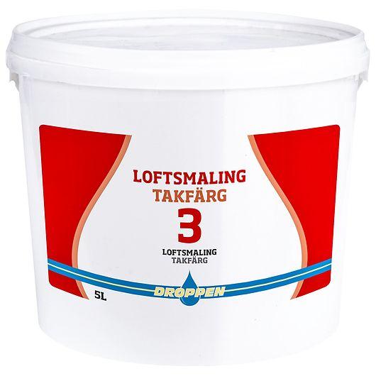 Droppen - Loft og vægmaling glans 3 hvid 5 L
