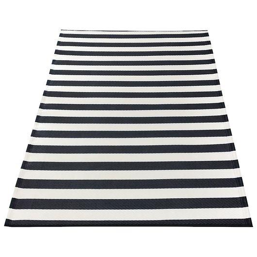Campingtæppe sort/hvid 86 x 180 cm
