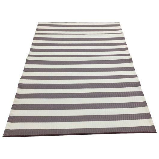 Campingtæppe brun/hvid 86 x 180 cm