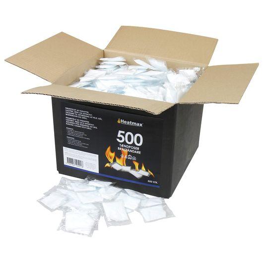 Heatmax tændposer 500-pak