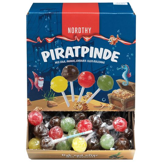 Slikkepinde Piratpinde - 90 stk