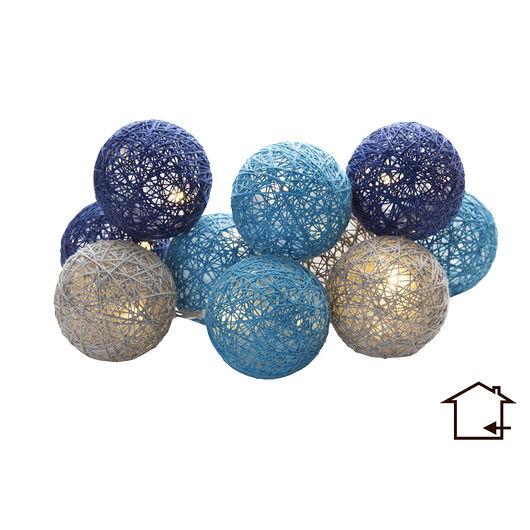 Lyskugler Ø. 6 cm blå - 10 stk