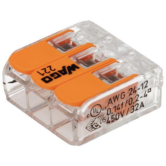 WAGO - Fjedersamlemuffe til 3 ledninger - 12-pak