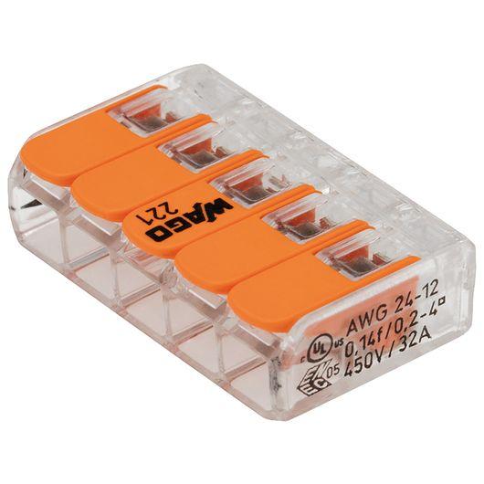 WAGO - Fjedersamlemuffe til 5 ledninger - 8-pak