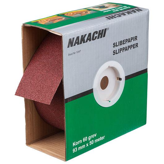 Nakachi slibepapir 93 mm x 50 m K60