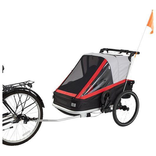 Cykelanhænger 3-i-1 - til 2 børn