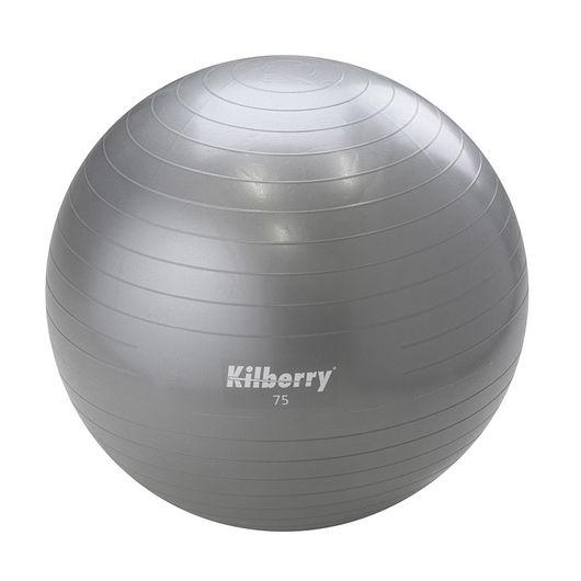 Pilates-/gymnastikbold Ø. 75 cm - grå