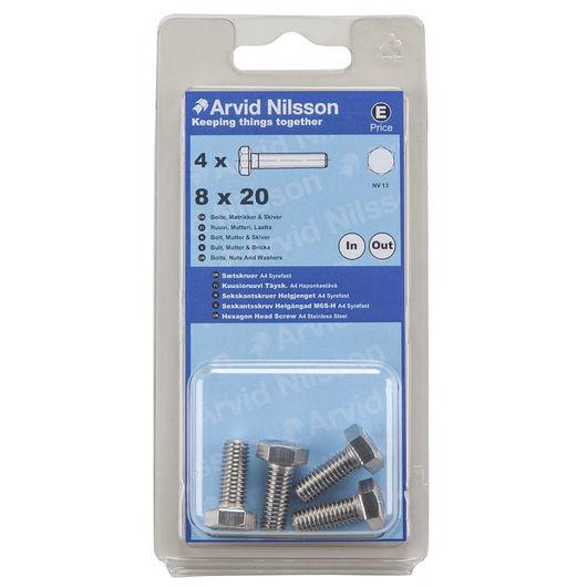 Arvid Nilsson - Sætskrue A4 M8 x 20 mm 4-pak