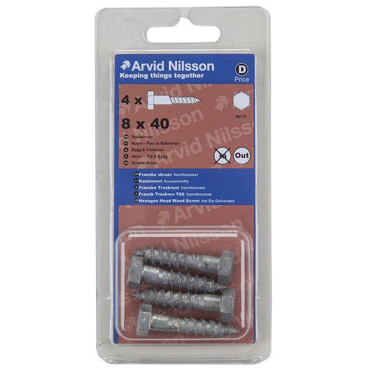 Arvid Nilsson fransk skrue 8 x 40 mm 4-pak