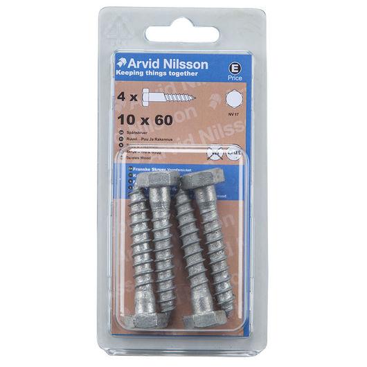 Arvid Nilsson fransk skrue 10 x 60 mm 4-pak