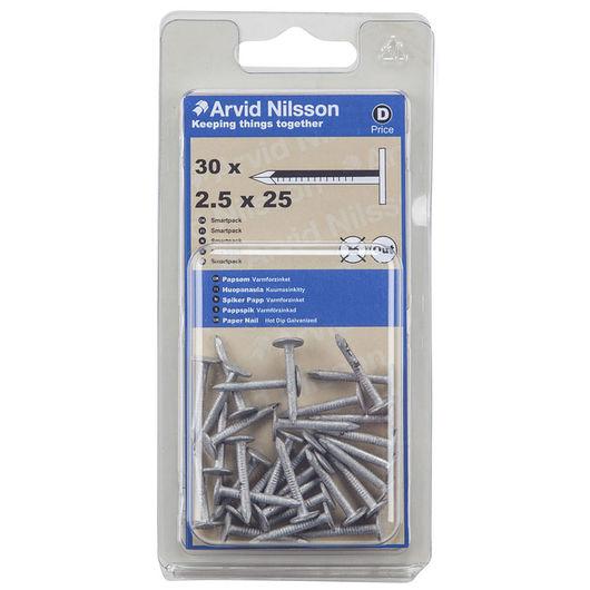 Arvid Nilsson papsøm 2,5 x 25 mm 30-pak