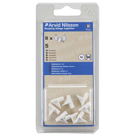 Arvid Nilsson vinkelhyldebærer hvid Ø. 5 mm 8-pak