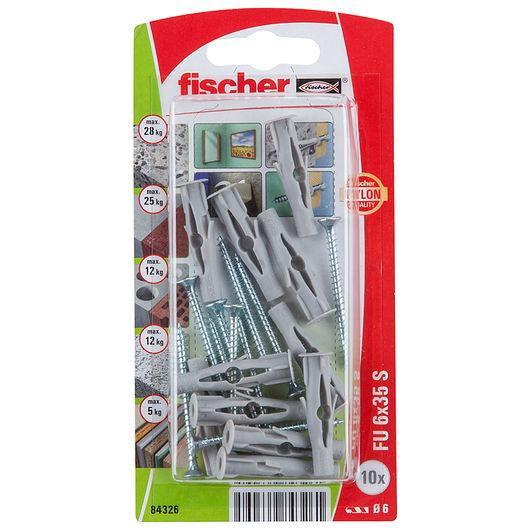 Fischer - Dyvel uni FU 6 x 35 mm SK 10-pak