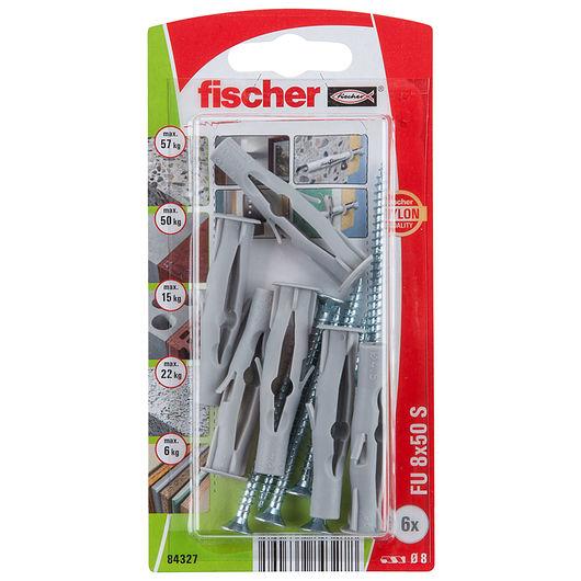 Fischer dyvel uni FU 8 x 50 mm SK 6-pak
