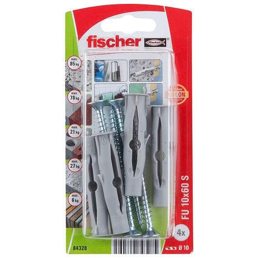 Fischer dyvel uni FU 10 x 60 mm SK 4-pak