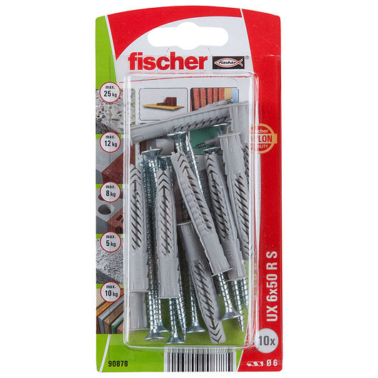 Fischer - Dyvel uni UX 6 x 50 mm RSK 10-pak