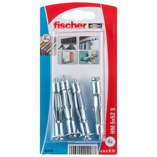 Fischer hulrumsdyvel i metal 5 x 52 mm 4-pak