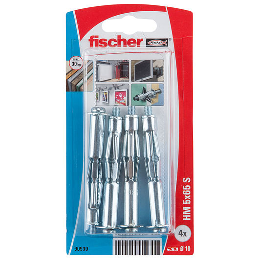 Fischer hulrumsdyvel i metal 5 x 65 mm 4-pak