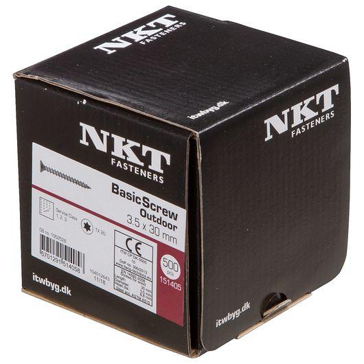 NKT håndværkerskrue 3,5 x 30 mm 500 stk.