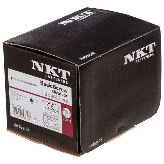 NKT håndværkerskrue 4,0 x 40 mm 500 stk.