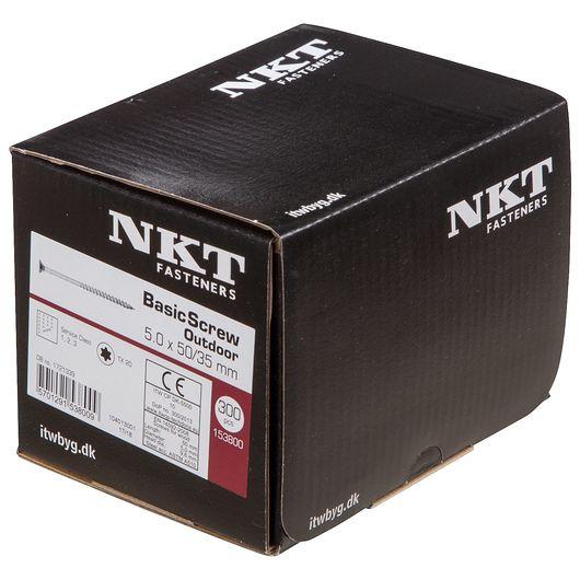 NKT håndværkerskrue 5,0 x 50 mm 300 stk.