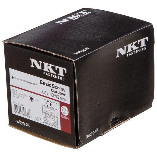 NKT håndværkerskrue 5,0 x 60 mm 200 stk.