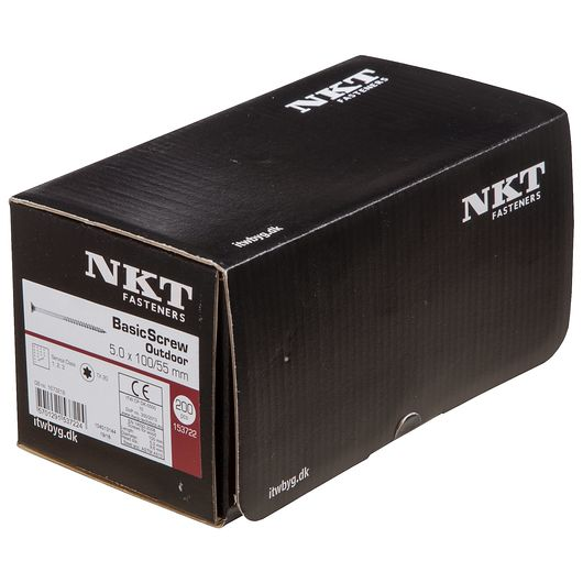 NKT håndværkerskrue 5,0 x 100 mm 200 stk.