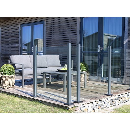 Glashegn - 100 x 97,6 cm - klart glas
