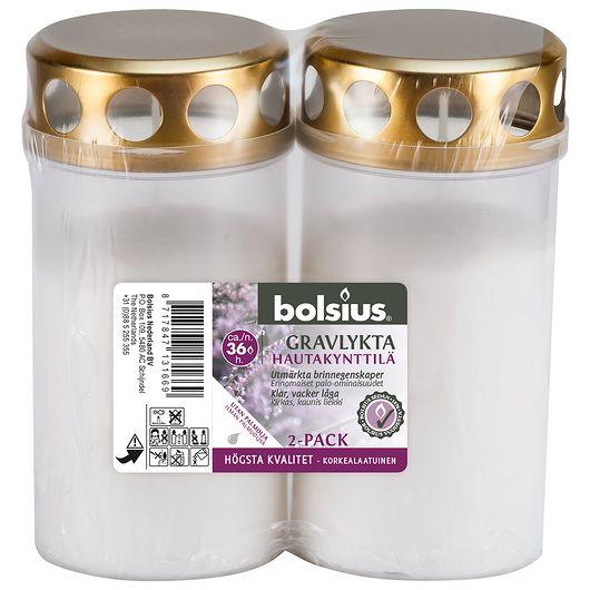 bolsius - Gravlys med låg 2-pak
