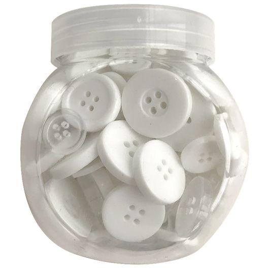 Knapper i hvide nuancer - 100 g