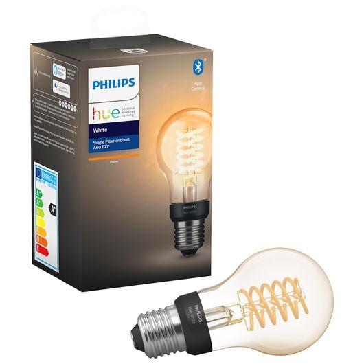 Philips HUE filamentpære E27 A60 7W dæmpbar