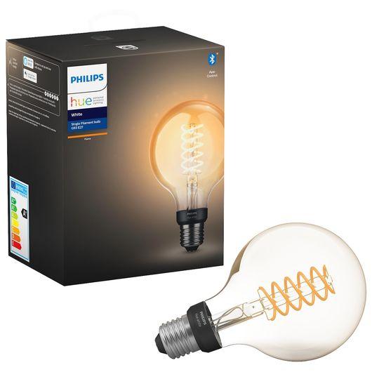 Philips HUE LED-filamentpære E27 G93 7W dæmpbar