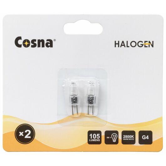 Cosna - Halogenpære 8W G4 2-pak
