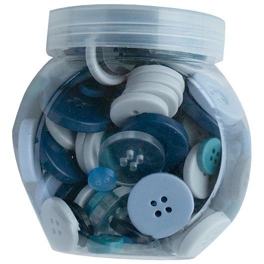 Knapper i blå nuancer - 100 g