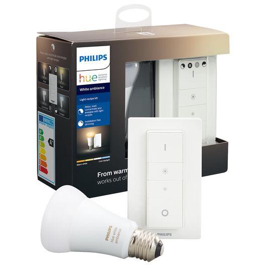 Philips HUE kit E27 8,5W og Wireless Dimmer