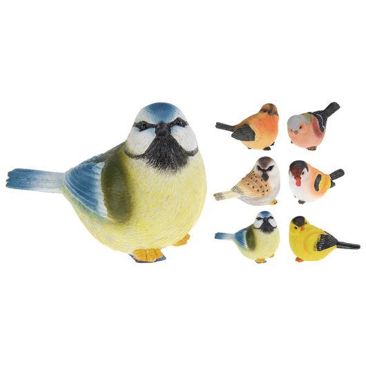 Fugl i polystone - 13 cm assorterede designs