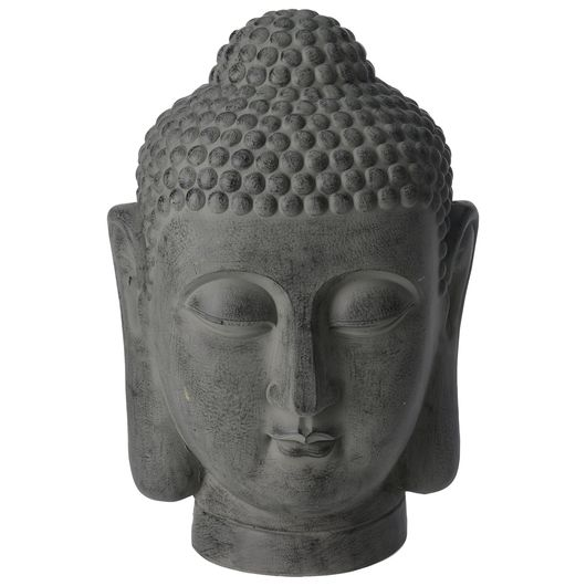 Buddhahoved - cement 40 cm