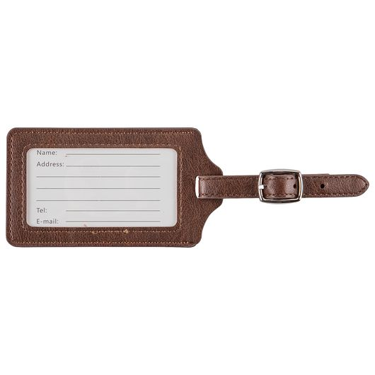 Kuffertmærke klassisk - brun