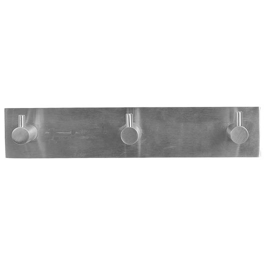 Knagerække med 3 knager - stål