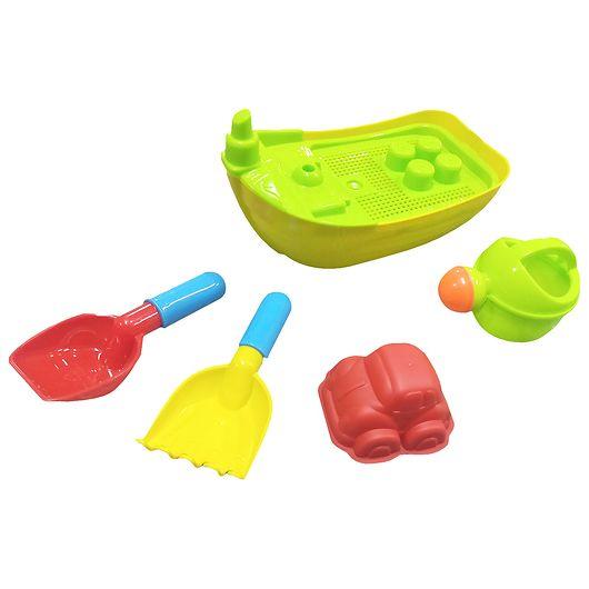 Sandlegetøjssæt med båd - 5 dele