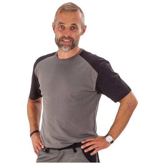 T-shirt kortærmet grå - str. L