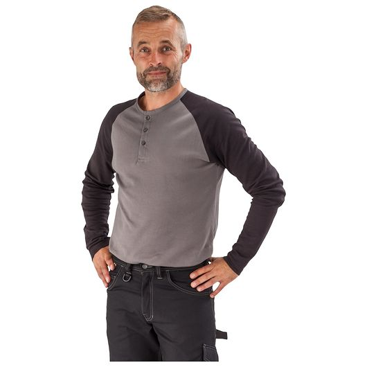 T-shirt langærmet grå - str. XL