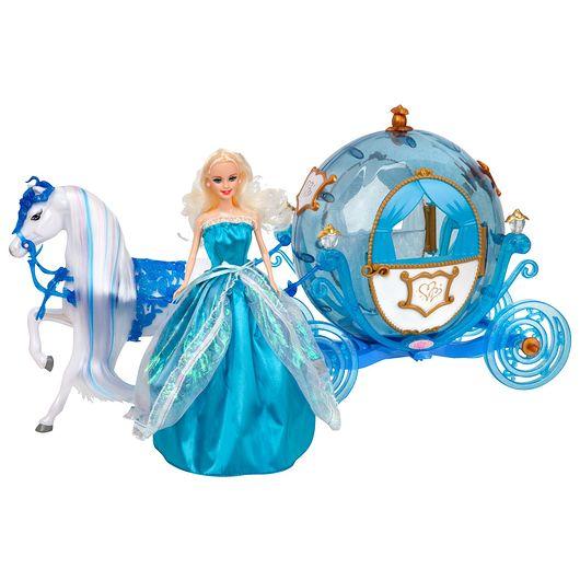 Prinsessekaret inkl. hest og dukke