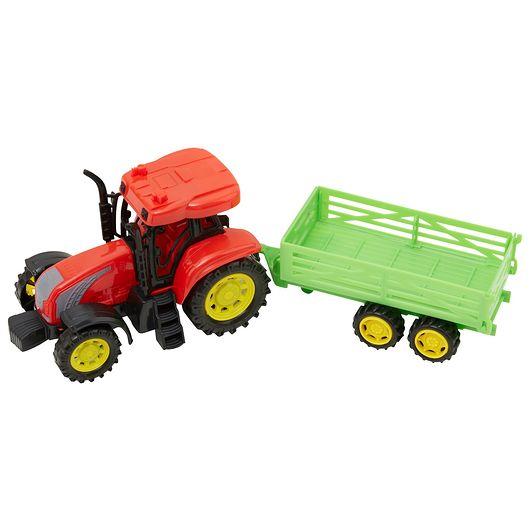 Traktor med anhængervogn, lys og lyd