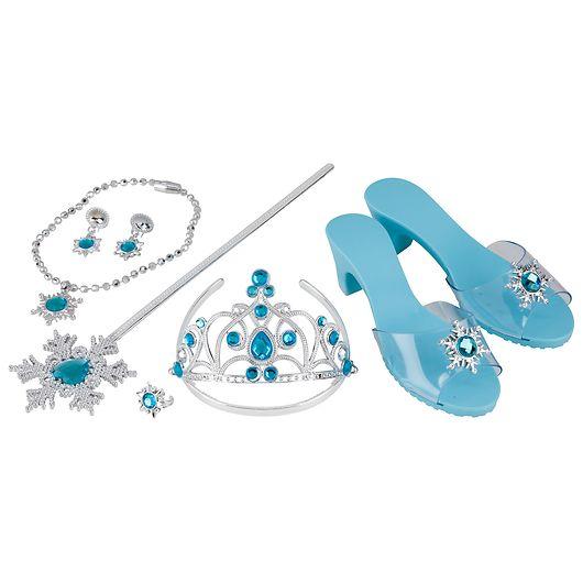 Prinsessesæt inklusiv sko - 8 dele