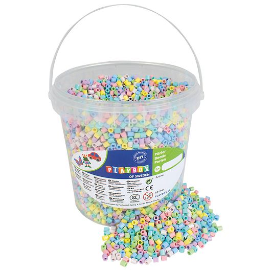Playbox - Perler 10.000 stk. - pastelfarver