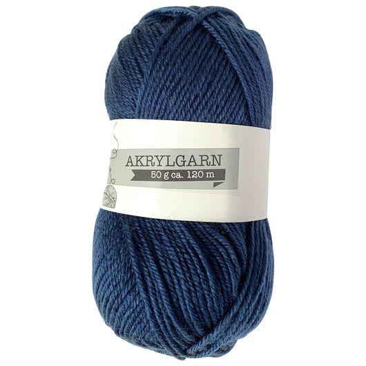 Akrylgarn 50 g - marineblå